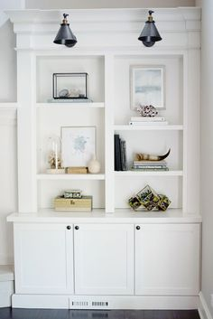 Shelf Styling, Bookcases, Built-Ins, Family Room Ideas |