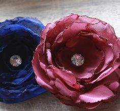 even more different fabric flowers