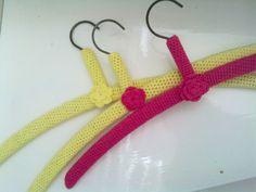 Crocheted cover for hanger