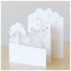 Love it! Stationery - Categories - Blog - Seven Swans Wedding Stationery http://www.sevenswans.co.za/blog/2013/02/19/elsa-bernards-lasercut-loveliness/