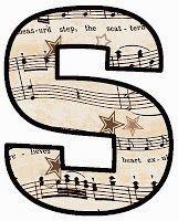 "ArtbyJean - Vintage Sheet Music Alphabet ""S"""