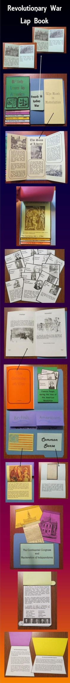 This Revolutionary War Lap Book contains interactive organizers which may be glued onto a file folder to form a lap book, added to interactive notebooks, or used individually. $ by corrine