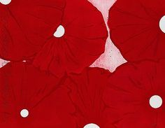 Donald Sultan Six Red Flowers 1999