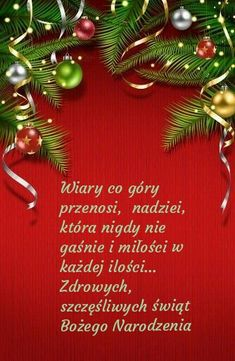 Kartka świąteczna 🌲🌲🌲🌲💛💛💛💛💛🌲🌲🌲💛🌲 Christmas Wreaths, Merry Christmas, Christmas Ornaments, Have A Blessed Day, Joy To The World, Diy And Crafts, Holiday Decor, Blessings, Encouragement