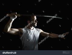 Tough Guy With A Katana Stock Photo 55515706 : Shutterstock