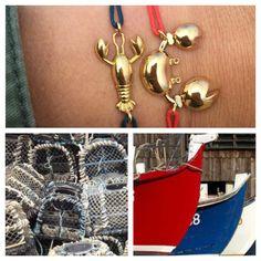 Bracelet crabe & bracelet homard CARL STONE CAP FERRET