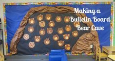 Making a Bulletin Board Bear Cave - Teachingthelittlepeople.com