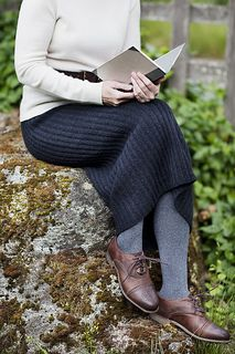 Ribbed pencil skirt knitted ravelry