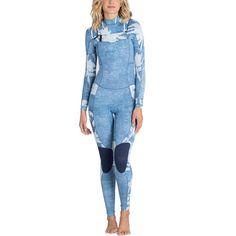 Billabong - 4/3 Salty Dayz Chest-Zip Wetsuit - Women's - Indigo