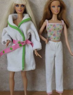 ca5d5beef5 A take on real life  BARBIE DOLL PAJAMAS CAMISOLE PANTS BATH ROBE NIGHTIE  LOT FASHIONISTA FEVER AVE