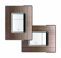 Add the perfect, organic finishing touch to your bathroom with the GROHE Skate collection of WC wall plates, shown here in American Walnut #WC #walnut #organic http://www.grohe.co.uk/en_gb/bathroom-collection/wc-skate-cosmopolitan.html