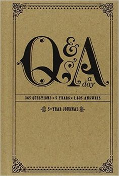 Amazon.com: Q&A a Day: 5-Year Journal (9780307719775): Potter Style: Books