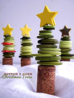I hope not, because I have a super cute Cork & Button Christmas Tree Craft to share! Christmas Crafts For Kids To Make, Christmas Activities For Kids, Christmas Tree Crafts, Preschool Christmas, Christmas Projects, Christmas Holidays, Winter Activities, Winter Holidays, Christmas Decor