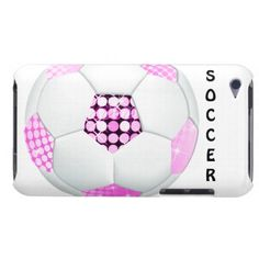 Pink and Black Disco SOCCER Ball Case-Mate Barely There 4th Generation iPod Touch Cases with customizable text. http://www.zazzle.com/pink_and_black_disco_soccer_ball-179861867199393094?rf=238575087705003771
