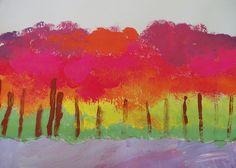 Roy G. Biv Trees-4th by paintedpaper, via Flickr