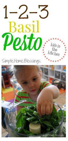 1-2-3 Basil Pesto -