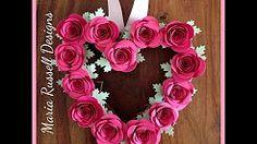 valentine heart wreath - YouTube