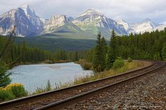 Continental Divide Mt Peaks, Banff, Alberta, Canada | Flickr - Places Ive Been, Places To Go, Continental Divide, Banff Alberta, Alberta Canada, Small World, River, Mountains, Destinations