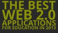 The Best Web 2.0 Applications For Education In 2013