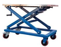 Vestil Mechanical Steel Scissor Cart by Vestil Table Élévatrice, Lift Table, Table Frame, Metal Projects, Welding Projects, Woodworking Projects, Mechanical Projects, Diy Welding, Welding Table