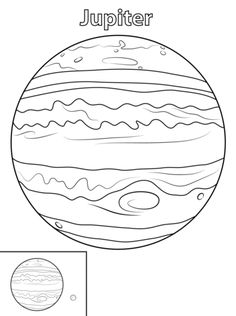 Jupiter Planet coloring page from Planets category. Select from 24652 printable crafts of cartoons, nature, animals, Bible and many more. Planet Coloring Pages, Moon Coloring Pages, Farm Animal Coloring Pages, Coloring Pages For Boys, Free Printable Coloring Pages, Jupiter Planet Color, Planets Preschool, Jupiter Planeta, Solar System Coloring Pages