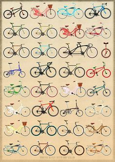 For bike freaks: The beautiful bycicle poster | Sneppers