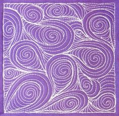 Paisley free motion quilting