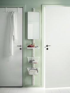 ALGOT storage system - Just a sliver of wall space is all you need to create stand up vanity in your bedroom.