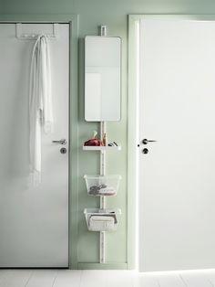 Sistema de almacenamiento, Sólo una pequeña porción de espacio de la pared es todo lo que necesita para crear levantarse vanidad en su dormitorio.