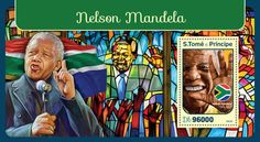 ST16415b Nelson Mandela (Nelson Mandela (1918–2013)) Nelson Mandela, Stamps, Seals, Postage Stamps