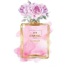 Chanel No.5 watercolor Mint Purple PRINTABLE A4 watercolour Chanel... ❤ liked on Polyvore featuring home, home decor, wall art, purple home accessories, watercolor poster, watercolor fashion illustration, purple home decor and watercolor wall art