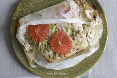 Wolffish enveloppe with grapefruit and fennel seed ///  pakketje van zeewolf filet met grapefruit en venkelzaad  find recipe here: http://wp.me/p3aCoi-wA