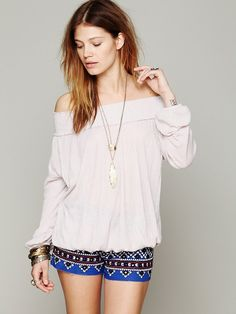 Free People FP X Sunn Kissed Top at Free People Clothing Boutique Daily Fashion, Retro Fashion, Boho Fashion, Spring Blouses, Comfy Dresses, Beautiful Blouses, Boho Tops, Swimwear Fashion, Spring Summer Fashion