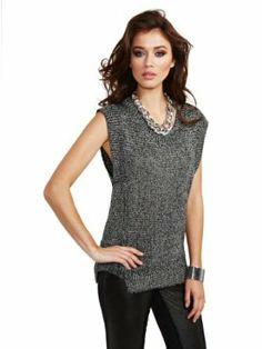 GUESS by Marciano Women's Franci Metallic Sweater http://www.branddot.com/13/GUESS-Marciano-Metallic-Sweater-GUNMETAL/dp/B00GWC3O5I/ref=sr_1_16/175-4104186-5513125?s=apparel