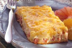 Breakfast Casserole- Egg/Ham/Hashbrown and crescent rolls