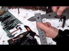 And a over 1 million views contest Entry for my friend Mario, http://www.youtube.com/user/bushcraftmyway Congratulation!  With Mike and Stefan and our friend Gerald and Many Knives - The Mr. Tom Brown Jr. Tracker and Scout, the Falkniven A1, Mora Survival Signal,   small Wetterlings hatchet, Bear Grills Gerber Collection, sharpener, Machete  Multit...