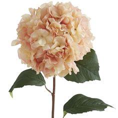 Faux Blush Hydrangea Stem Pink
