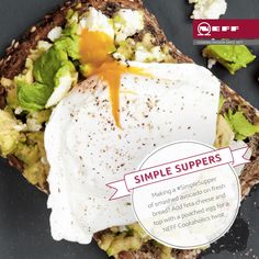 Turn smashed avocado into a #SimpleSupper with these two tasty additions - feta cheese and a poached egg!