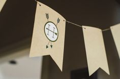 kraft paper bunting  |  where the wild things are first birthday party