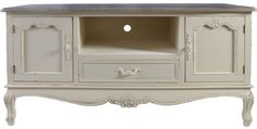 SHABBY CHIC TV STAND TABLE CABINET DVD VIDEO BLUE RAY LCD VICTORIAN STYLE NEW