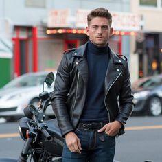 Instagram #ootdmen #men's #fashion #casual #style #street #leather #jacket