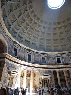 Inside the Pantheon....the most incredible structure I think I've ever been in.