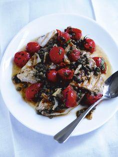 Swordfish, cherry tomatoes & capers | Jamie Oliver#BEIz24ev6cvJ8ouW.97#BEIz24ev6cvJ8ouW.97