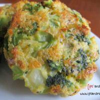 po' man meals - cheesy roasted broccoli patties