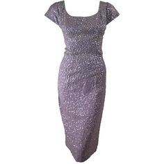 Unknown - 1950's Lilac Sequins Cocktail Dress ❤ liked on Polyvore featuring dresses, purple, sequin embellished dress, purple sequin dress, purple dress, sequin dress and lilac cocktail dress