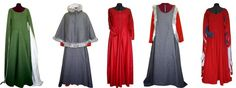 Medieval female outer garments