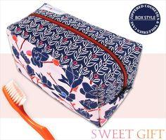 Box Style Zippered Cosmetics & Toiletries Case | Sew4Home