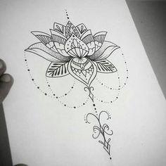 Risultati immagini per tatuagem de mandala feminina significado Lotusblume Tattoo, Tattoo Dotwork, Unalome Tattoo, Lotus Tattoo, Piercing Tattoo, Back Tattoo, Lotus Henna, Piercings, Hamsa Tattoo