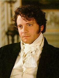 Here is Mr. Darcy's version of the cream-colored waistcoat and neckful of linen. Note that his waistcoat has self-fabric buttons - the only exception to this I have ever seen in period waistcoats are thread-wrapped buttons, never metal, shell, or other materials.    I'll add that they did an excellent job with the hairstyles in this film. He looks as if he's straight out of a painting.