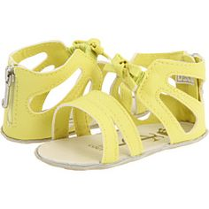 Soak up the sun with these radiant Juicy Couture Kids Citric Anise Gladiator Sandal (Newborn/Infant)